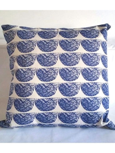 AFRIWEST ELEY CUSHION IN NAVY BLUE