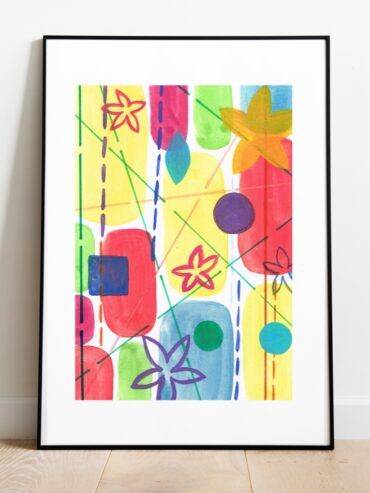 Spring Watercolour Art Print