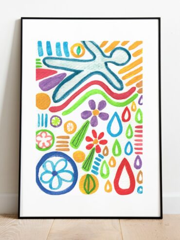 Life Cycle Watercolour Art Print