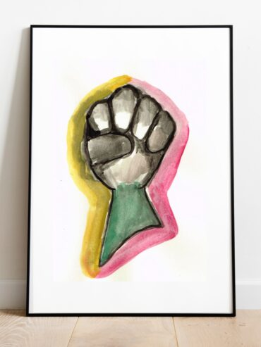 Fist Watercolour Art Print