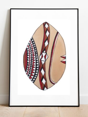 Maasai Shield Art Print