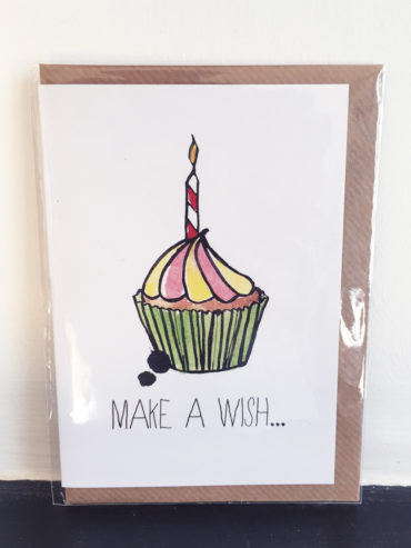 Cupcake Make a Wish Birthday Card