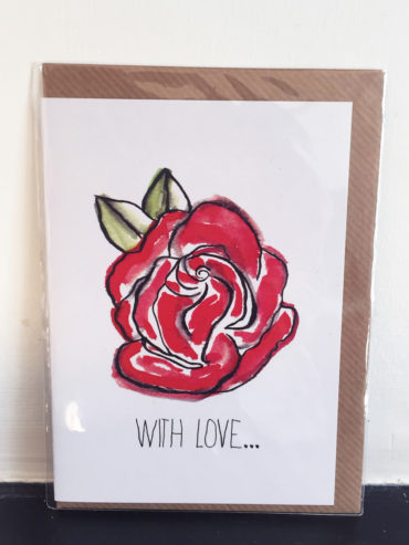 WITH LOVE ROSE GREETING CARD