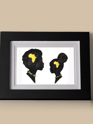 African Woman and Girl Art Print