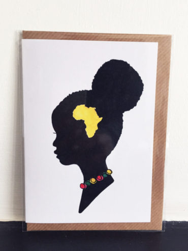 AFRICAN GIRL GREETING CARD