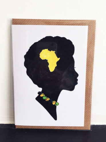 AFRICAN WOMAN GREETING CARD