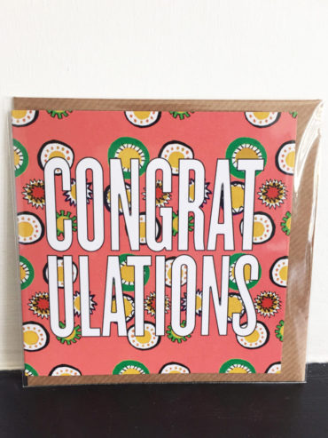Peach Congrats Card