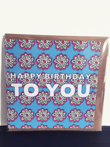 Blossom Square Birthday Card