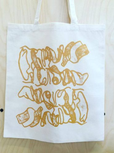 AfriWest Gold screen printed tote