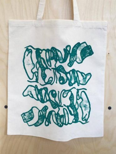 AfriWest Sea Green screen printed tote