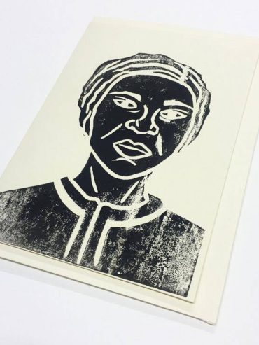 QUEEN NANNY LINOCUT GREETING CARD