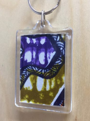 African Purple Wax Print Keyring
