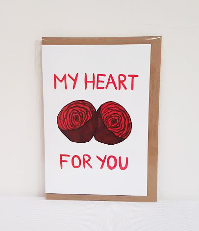 HEART 'BEETS' FOR YOU GREETING CARD