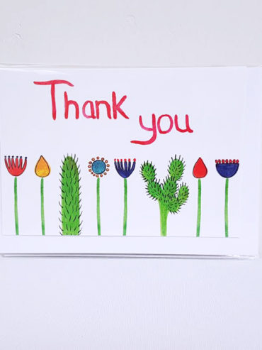 THANK YOU CACTI GREETING CARD