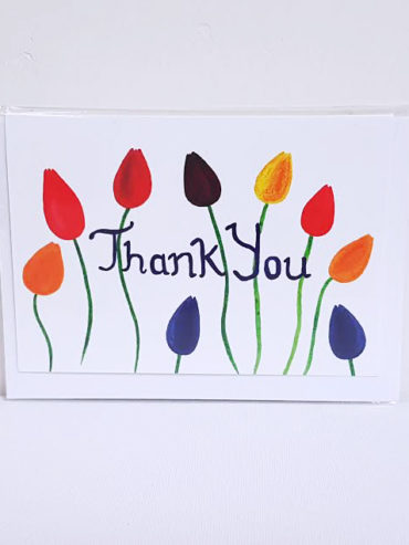 THANK YOU TULIPS GREETING CARD