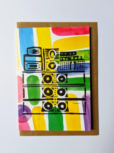 Sound System Greeting Card