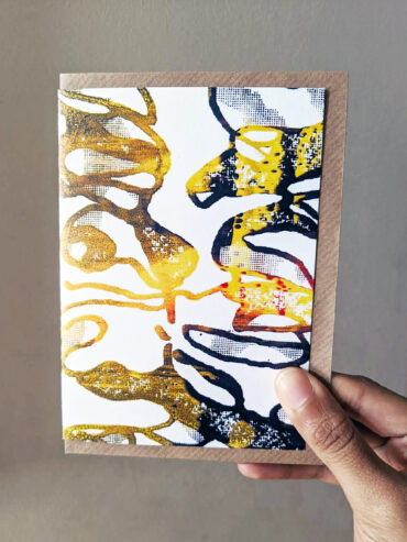 Scorched metal Greeting Card