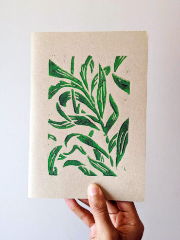 Green Vine Leaves Sketchbook